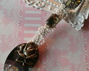 Handmade Christmas Ornament,Silver Spoon,Victorian Christmas