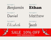Sale - Personalized Name Lettering Decal