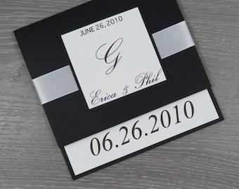 Black and White Wedding Invitation, Black Tie Wedding Invitation, Modern Wedding Invitation, Classic Invitation, Simple Wedding Invitations