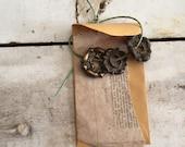 Supplies | stamped brass | hardware | Escutcheon plates Keyhole Antique