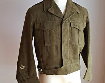 1950's, Canadian army jacket, men's size medium