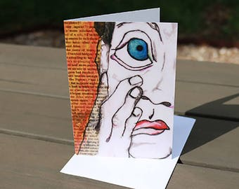 Original Art Greeting Card - 'Twenty-Two' - Blank Card - Card with Envelope – Note Card