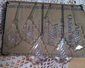 salvaged vintage chandelier crystals set of 6