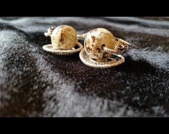 Quail Egg Earrings