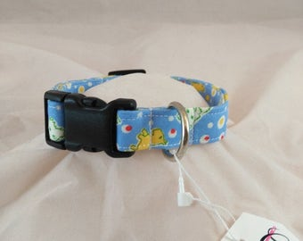 Light Blue Terrier Dog Collar, Dog Collars