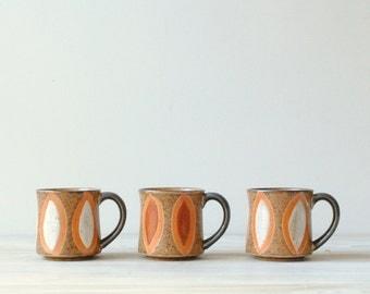 Vintage Ceramic Mugs, Coffee or Tea Mugs, Japanese Mugs, 10 oz mugs
