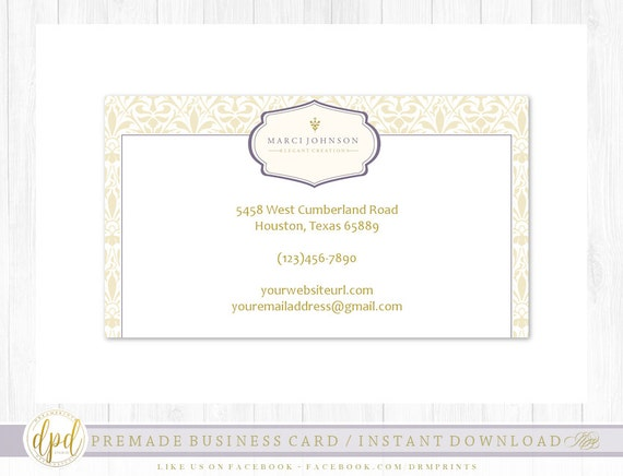 Custom Premade Blank DIY Single Sided Business Card | Business Template | Business Branding | Business Graphics | INSTANT DOWNLOAD-AS526