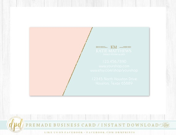 Custom Premade Blank DIY Single Sided Business Card | Business Template | Business Branding | Business Graphics | INSTANT DOWNLOAD-XA383