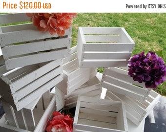 GREAT SALE wedding crates 10 wooded crates / white wedding / wedding reception / table centerpiece / planter box / flower vases /wedding dec