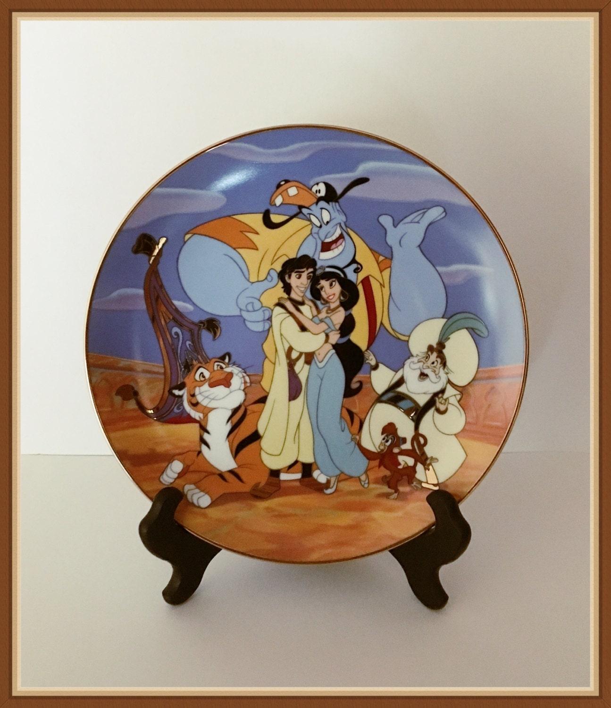 Walt Disney Aladdin Plate Jasmine Group Hugs