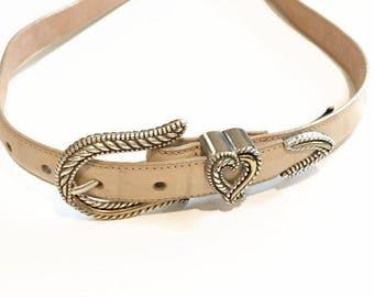 Vintage Brighton Belt / Moc Croc Belt / Size 30
