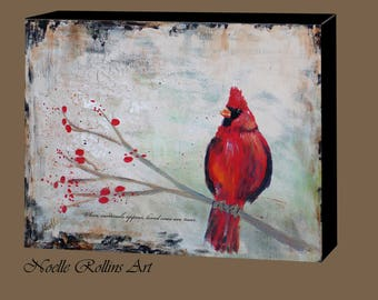 Cardinal is near wall art canvas red cardinal print 20x16 10x8  14x11 inches large piece signs from heaven sacred hellos loved ones near