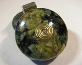 Orgone Pendant - Emerald and Green Opal