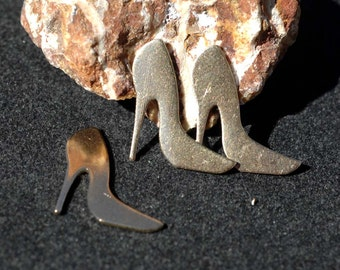 My MOST Tiny High Heels Blank 24g Cut Out for Metalworking Soldering Stamping Texturing Blanks Variety of Metals