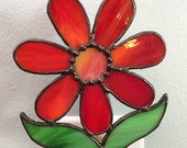 Stained Glass Flower Night Light
