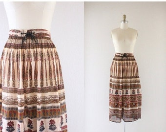 ON SALE indian gauze festival skirt / one size