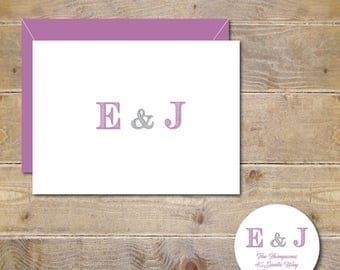 Wedding Thank You Cards, Thank You Cards, Initials, Ampersand, Bridal Shower, Affordable Wedding, Handmade, Wedding Thank Yous