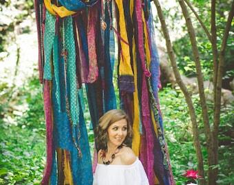 Boho Photography Backdrop - Photography Prop - Shabby Chic Props - Colorful Backdrop - Photo Shoot  Backdrop - Silk Canopy - Silk Canopy