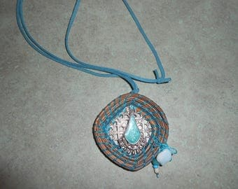 Pine Needle Necklace old jewerly findings