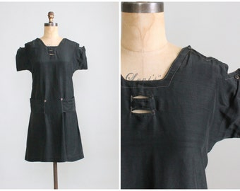 Vintage Early 1920s Swimsuit Tunic Dress