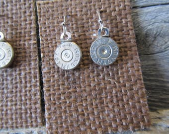357 Dangle Earrings, with spent primer  - Ready to Ship Today