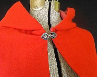 Good Wool Cloak with Hand-Pleated Hood, 18th Century