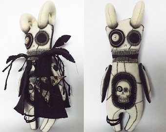 Voodoo Doll Macabre Horror Doll Soft Sculpture Art Doll Gothic Doll