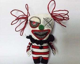 Scary Clown Doll Creepy Scary Dolls Gothic Horror Art Dolls