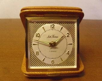 Vintage 1950's  Seth Thoms Travel Alarm Clock  Deadstock
