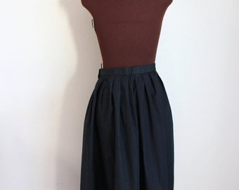 50% OFF SALE Vintage 1980's Black Jaeger Skirt with Ric Rac Detail