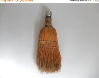 Mid Century Handheld Straw Brush