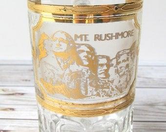 VINTAGE - Mt. Rushmore Shot Glass - South Dakota