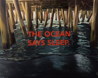 The Ocean Says Sleep