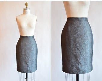 30% OFF storewide // Vintage ESCADA silk brocade pencil  skirt