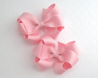 Pigtail Hair Bows, Toddler Girls Twin Hair Bows, Boutique Hair Bows, Pick Your Colors, Pinwheel Bows