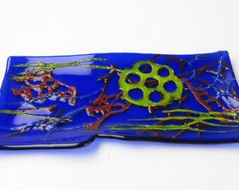 Marine Microfauna Radiolarian Fused Glass Dish