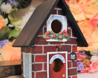Hand Painted Personalized Decorative Birdhouse
