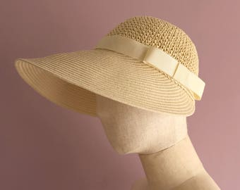 "Foldable Wide Brimmed Hat ""Mia White"""