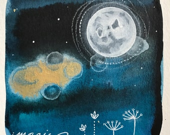 Moon Series #5  11x17 Poster Art Moon Print