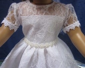 Lace communion dress will fit your 18 inch doll such as American Girl