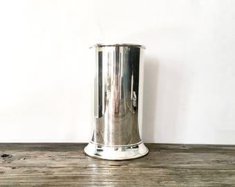 Vintage Silver Plated Utensil Holder / Silver vase / Silver Plated Utensil Caddy