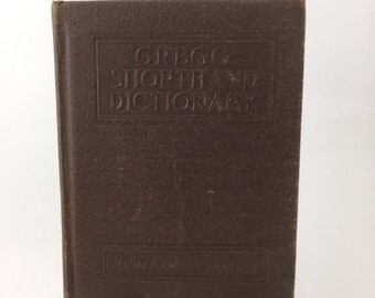 Vintage Gregg Shorthand Dictionary