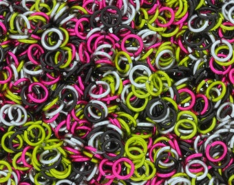 Jump Rings - 16-gauge (AWG) Rebel Anodized Aluminum Jump Ring Mix - 1 Ounce - Pick Your Size!