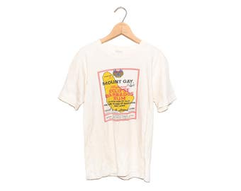 Vintage 70's Mount Gay Refined Barbados Rum White T-shirt - Small