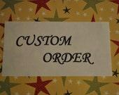 "Melissa-Custom order-Deposit-Baseball ""Cubs "" stool"