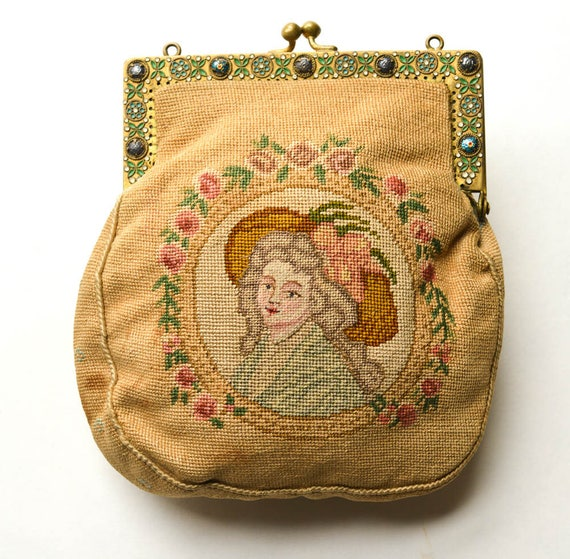 Petit Point Purse, Antique Purse