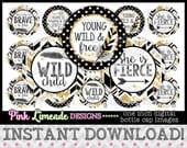 "Young Wild & Free Version 2 - INSTANT DOWNLOAD 1"" Bottle Cap Images 4x6 - 989"