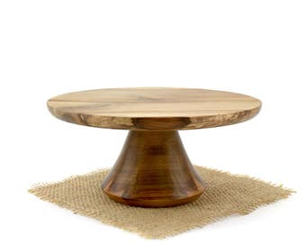 Groom Cake Stand- Sweet Gum Cake Stand - Wooden Pedestal Cake Plate