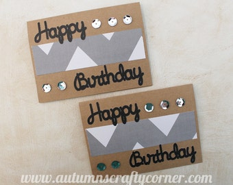 Happy Birthday - Homemade Card - Set of 2