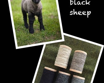 Baa Baa Black Sheep - Rustic Moire Wool Thread collection